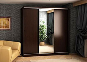 Шкаф - дсп + зеркало шир. 2.1 выс. 2.5 глуб. 0.6 цена  708 00 руб.